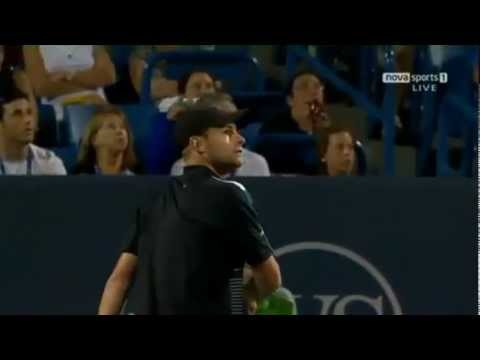 Funny Tennis – Andy Roddick arguing with the umpire over a penalty point