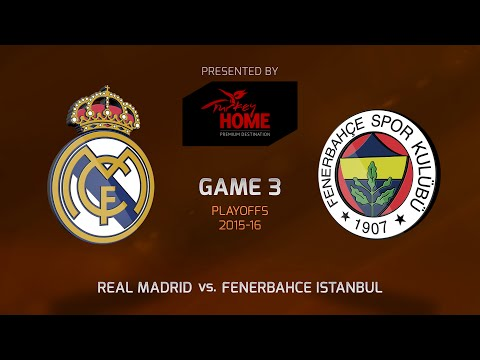 Highlights: Playoffs Game 3, Real Madrid 63-75 Fenerbahce Istanbul