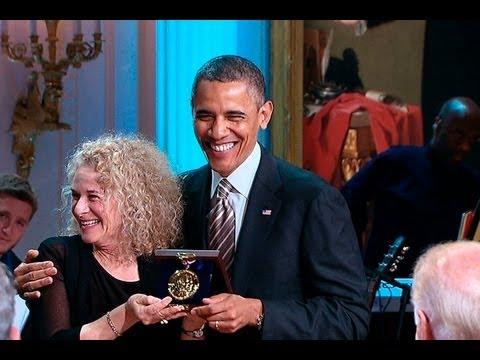 White House - President Obama and First Lady Michelle Obama host a concert in the East Room honoring singer-songwriter Carole King, the recipient of the 2013 Library of Co...