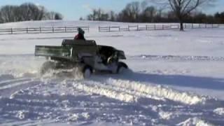 4. Turbocharged John Deere Gator HPX Diesel playing in the snow
