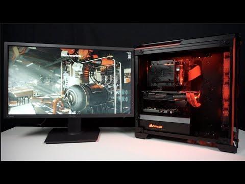 Gamer PC in rot-schwarzem Design