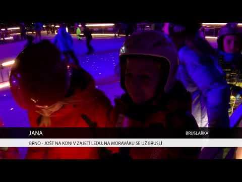 TV Brno 1: 7.12.2017 Jošt na koni v zajetí ledu. Na moraváku už se bruslí.