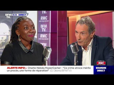 Danielle Obono face à Jean-Jacques Bourdin sur RMC et BFMTV