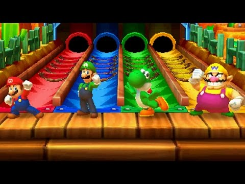 Mario Party Star Rush - All Free-for-All Minigames (видео)