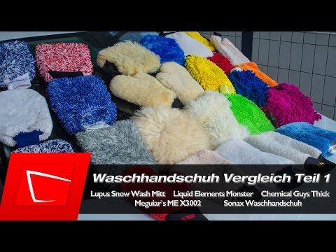 Waschhandschuh Test - Autopflege Teil 1 Chemical Guys, Meguiars, Liquid Elements