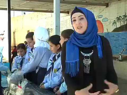 مبادرة مرشدات مدرسة مجدل بني فاضل / نابلس لانتاج وقود التدفئة من مخلفات الورق والخبز الجاف والزيتون