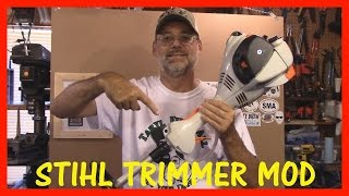 5. STIHL  FS 56 RC-E TRIMMER  MOD USING A PAINT STICK