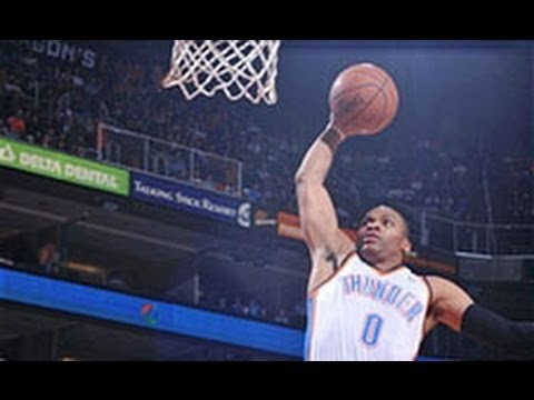 Video: Russell Westbrook Opens the Game With a Steal and Slam