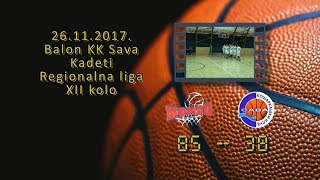 mondo basket2 kk sava3 85 38 (kadeti 3, 26 11 2017 ) košarkaški klub sava