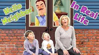 Hello Neighbor in Real Life in the Frozen Dark! | DavidsTV