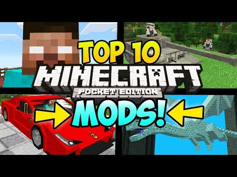 """TOP 10 MINECRAFT POCKET EDITION MODS"" (Minecraft Top 10 PE Mods, iOS, Android, Minecraft Mods)"