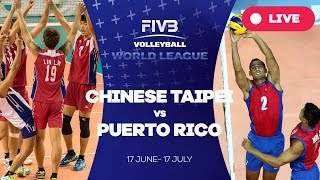 Puer China  city photo : Chinese Taipei v Puerto Rico - Group 3: 2016 FIVB Volleyball World League