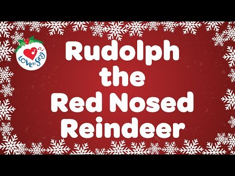 Rudolph the Red Nosed Reindeer With Lyrics   Christmas Songs and Carols
