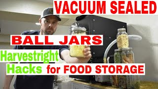 HARVEST RIGHT HACKS 🙌The Hidden Secret🙌Vacuum Sealing Ball Jars