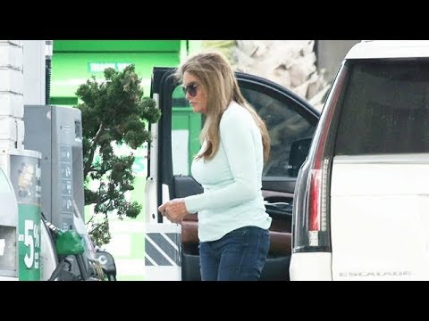 Caitlyn Jenner Pumps Gas Amid Nasty Feud With The Kardashian Family