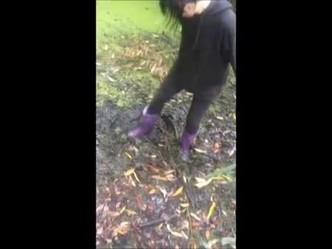 Char's Purple Boots In Mud