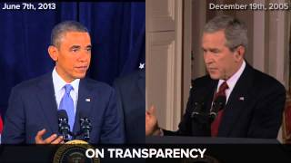 Obama Vs Bush On Secret Snooping Programs