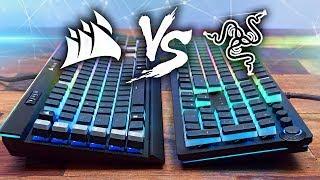 Razer Huntsman Elite vs Corsair K95 Platinum RGB Keyboard Comparison!