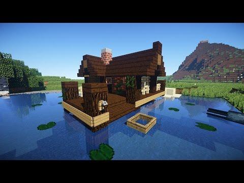 стартовый дом в minecraft хижина рыбака