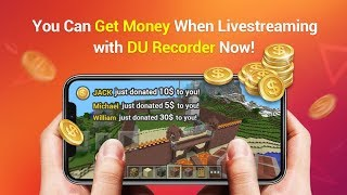 Add A Donation Button for Your Live Streaming Using DU Recorder