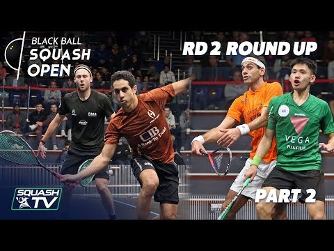 Squash: CIB Black Ball Squash Open 2018 - Rd 2 Roundup P2