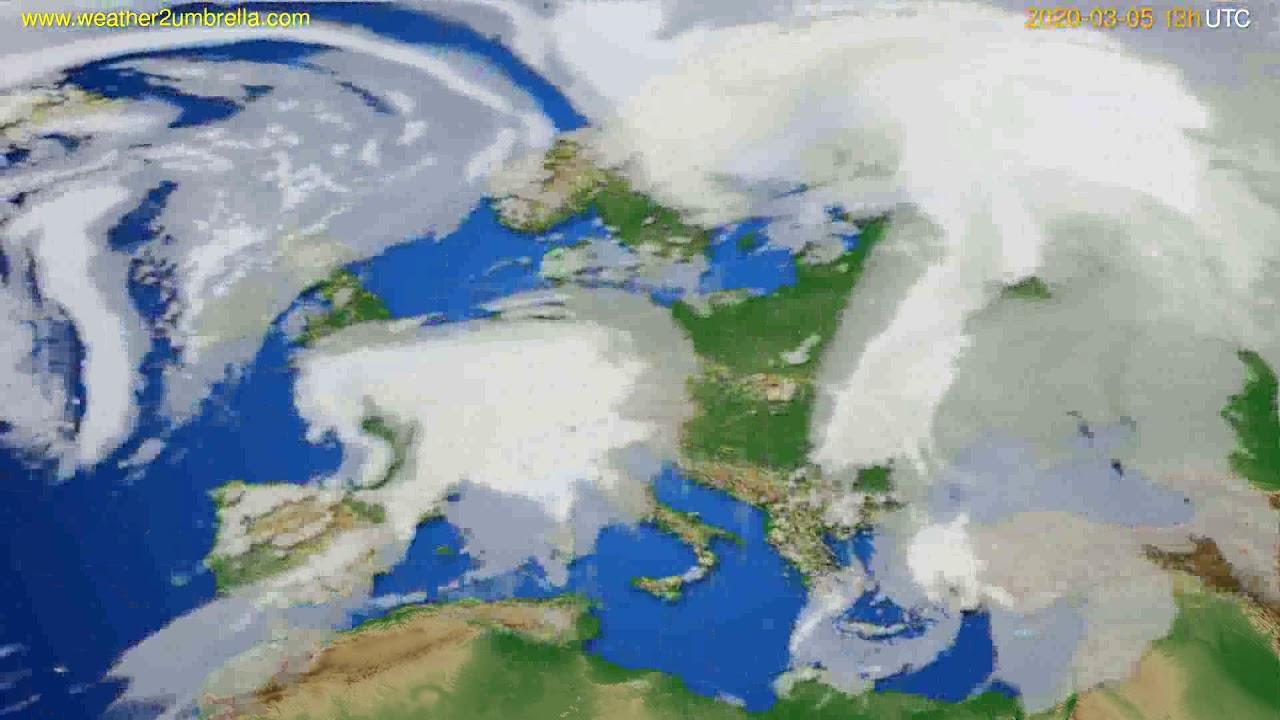Cloud forecast Europe // modelrun: 12h UTC 2020-03-04