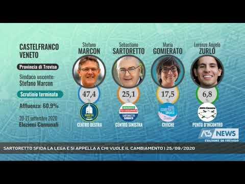 SARTORETTO SFIDA LA LEGA E SI APPELLA A CHI VUOLE IL CAMBIAMENTO | 25/09/2020