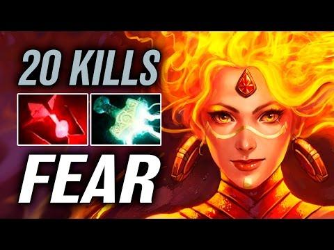 Fear • Lina • 20 kills — Pro MMR