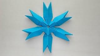 Снежинка из бумаги ❄ Новогодние поделки оригами своими руками