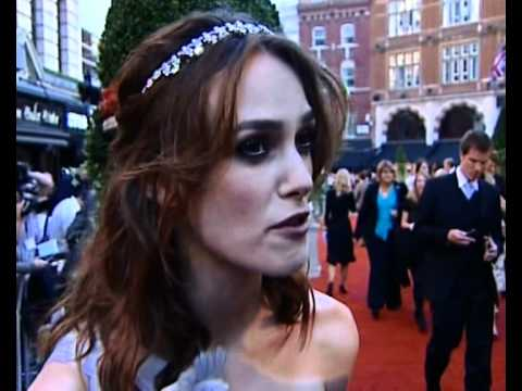 Keira Knightley interview at Atonement premiere