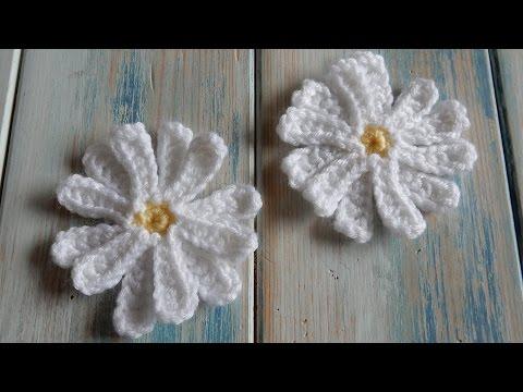 crochet - how to make a daisy flower
