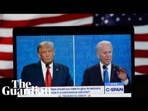 Donald Trump and Joe Biden face off in the final presidential debate – watch live