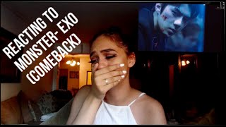 REACTING TO MONSTER BY EXO MUSIC VIDEO (EXO TRASH) Video