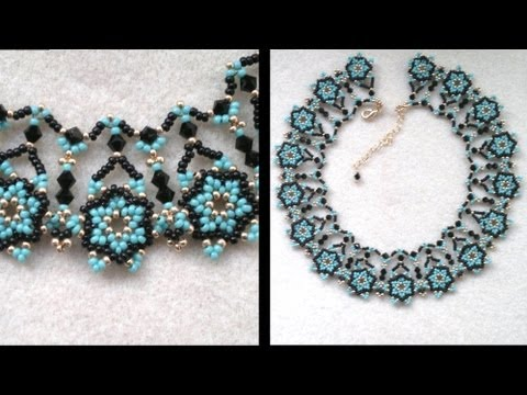 Beading4perfectionists : Netted necklace, putting the designs together Part 2 of 2