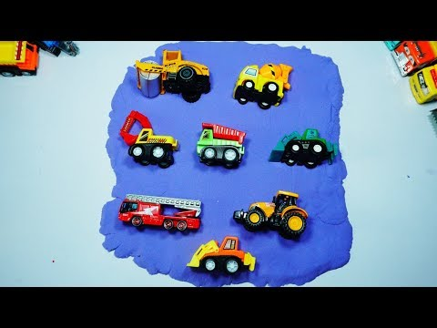 Learning Vehicles Names for Kids l Street Vehicles Excavator, Dump Truck, Fire truck