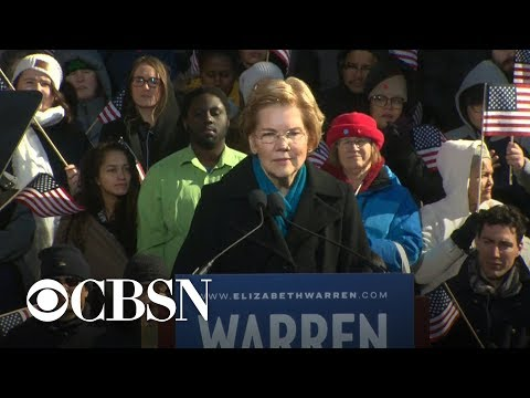 """""""This is the fight of our lives"""": Elizabeth Warren launches 2020 run"""