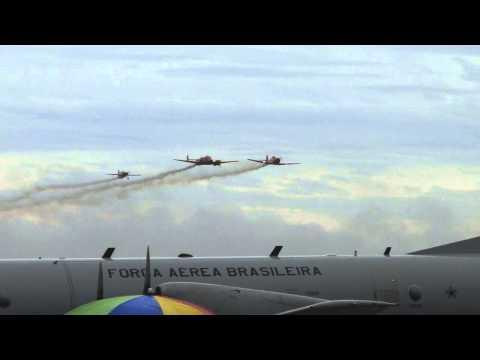 Chegada da Esquadrilha BR em Pirassununga 12/05/2012