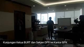 Ketua BURT Anton Sihombing, Sekjen DPR Achmad Djuned beserta jajarannya berkunjung ke Gedung Badan Pemeriksa Keuangan (BPK) dan Mahkamah Konstitusi (MK). Kunjungan tersebut dalam rangka mencari perbandingan ruangan, sebab DPR berencana memulai pembangunan gedung baru pada 2018. (Tasha)