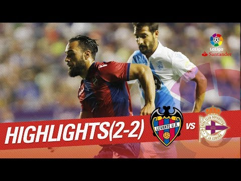 Xem lại Levante 2 - 2 Deportivo La Coruna 27-8-2017, Highlights, La Liga 2017 - 2018