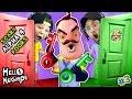 HELLO NEIGHBOR NIGHTMARE DOORS OF DEATH! ALPHA 4 DOUBLE JUMP Mini Game w/ Red & Green Key FGTEEV #3