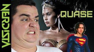 Eles QUASE chegaram lá. Liga da Justiça, Superman, Batman futurista, Mulher-gato (que presta) e vários outros filmes de super-herói que QUASE saíram do papel nessa lista.VISITE A MANDRAKE COMIC SHOPAv. T-3, nº 2673 (em frente ao Parque Vaca Brava) Galeria Pátio do Lago, Setor Buenohttp://www.mandrakecomicshop.com.br/GRUPO DO NERDISTAhttps://www.facebook.com/groups/nerdista/SEJA UM PADRINHO/MADRINHA DO NERDISTA! Entre, veja o que pode ganhar contribuindo e crescendo com a gente.https://www.padrim.com.br/nerdistaAjude a tornar esse vídeo mais acessível, faça legendas em Português para nos ajudar se não puder ajudar com dindin ;)http://www.youtube.com/timedtext_cs_panel?c=UCttJAQLmyMIjj9VtW44X-tg&tab=2Site: http://www.nerdista.com.br/Facebook: http://www.facebook.com/nerdistaTwitter: http://twitter.com/canalnerdistaInstagram: http://instagram.com/canalnerdista