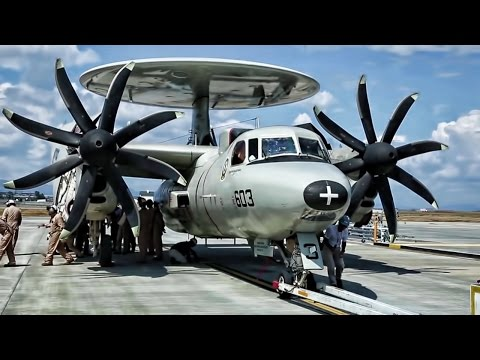 Multiple clips of E-2C Hawkeyes...