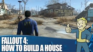 Fallout 4 Gameplay - How To Build A House