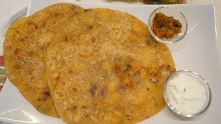 Aloo paratha (potato stuffed roti)