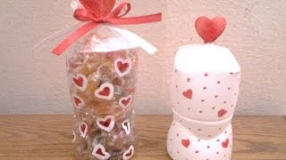 Best out of waste Plastic bottle transformed to gift container - YouTube