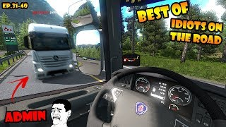 Video ★ BEST OF Idiots on the road - ETS2MP - Ep. 31-40 | Tony 747 - Best moments MP3, 3GP, MP4, WEBM, AVI, FLV Juni 2019
