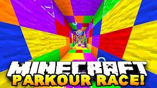 Minecraft - ONE vs ONE PARKOUR RACE! (Degious Parkour!) - w/ Preston & Kenny