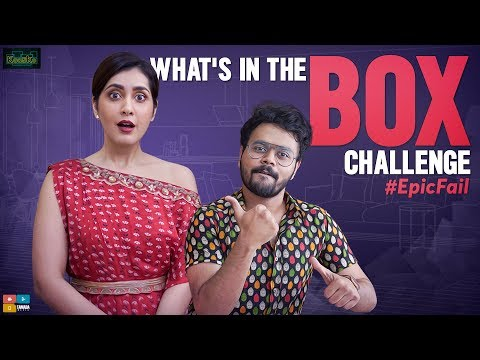 What's In The Box Challenge EPIC FAIL || ft. Raashi Khanna || Kaasko || Tamada Media