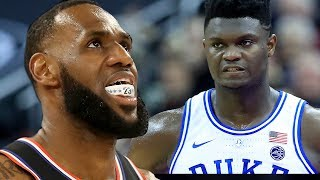 Zion Williamson REACTS To LeBron Comparison As Duke Charges Super Bowl Ticket Prices For UNC Game! by Obsev Sports