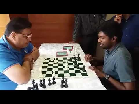 AICF Secretary Bharat Singh Chauhan beating Adhiban!
